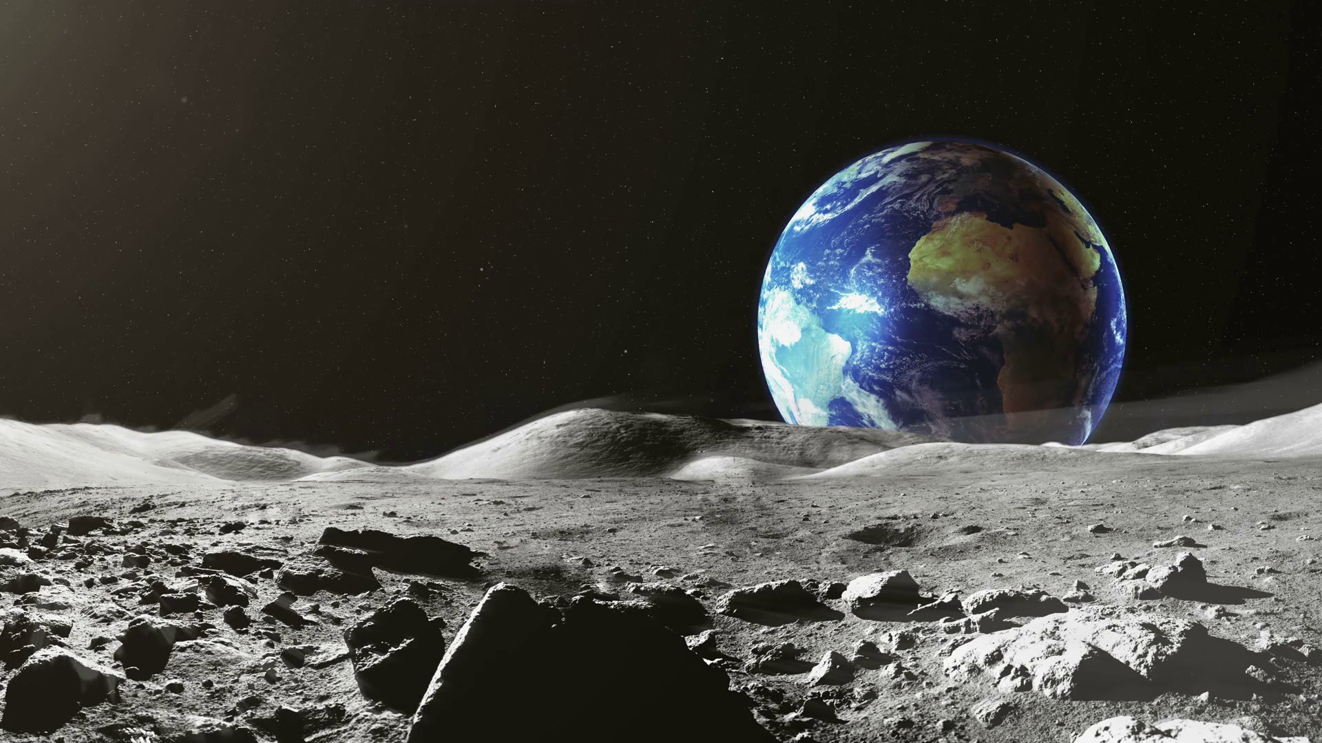 earth from the moon - HD1600×900